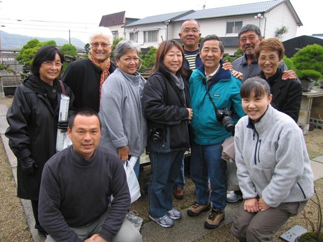 The Menber Of Rainbow Bonsai Club From Hawaii Visited Kinashi Town The 11th Aspac Takamatsu 2011 Bonsai