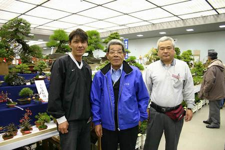 Keiji Kandaka, Kuniaki Hiramatsu and Koji Hiramatu(from right to left)=Miyakomesse