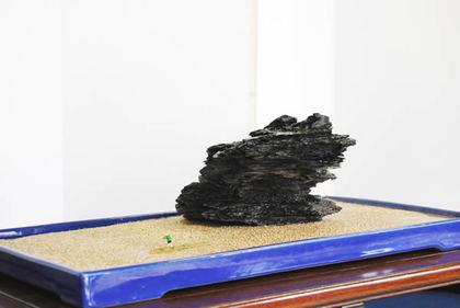 Suiseki work using sanuki's specialty,
