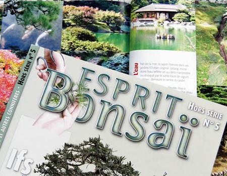 栗林公園も紹介されたフランスの専門誌。誌名は「Bonsai」