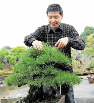 自園で作風を磨く松田さん